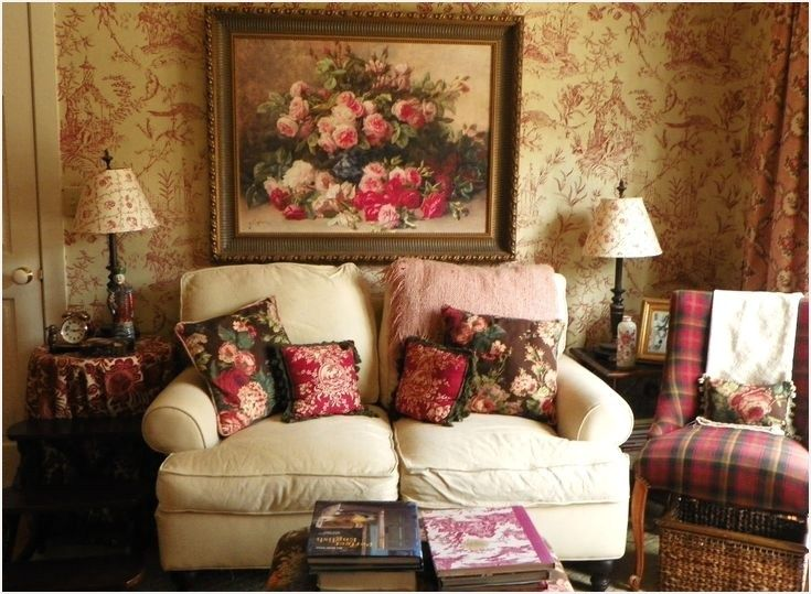 Romantic Cottage Living Room is part of Romantic Cozy Living Room - Romantic Cottage Living Room 61