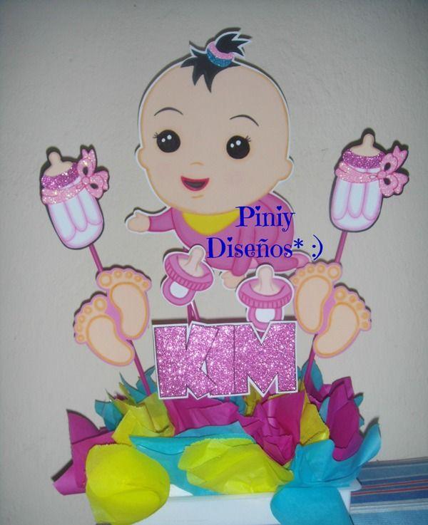 centro de mesa para baby shower MIS DISEÑOS ( P I N I Y ) Pinterest
