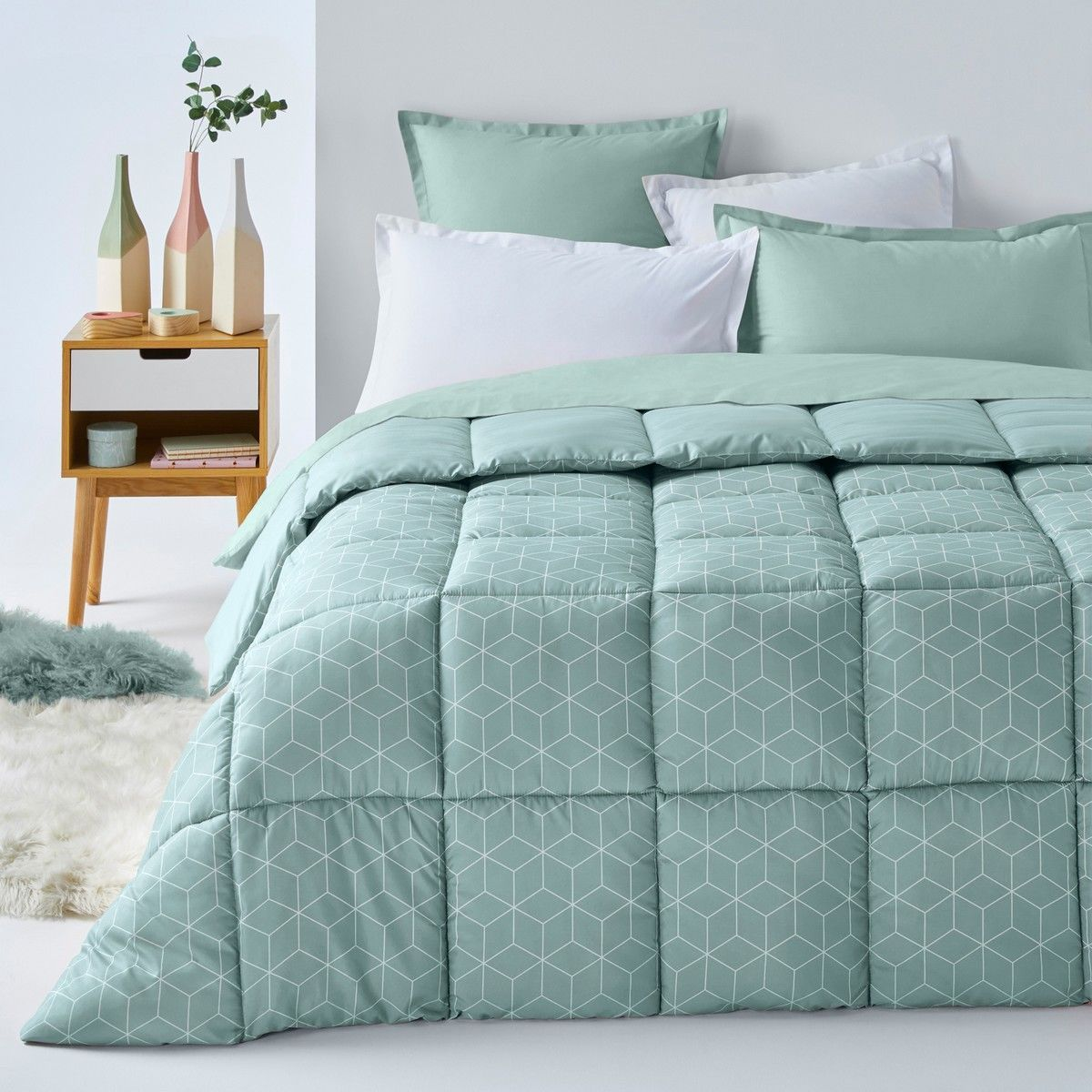 La Redoute Decio Microfibre Duvet Green White Rrp Listing In The Duvets Covers Sets Bedroom Home Garden Category On Ebid United Kingdom
