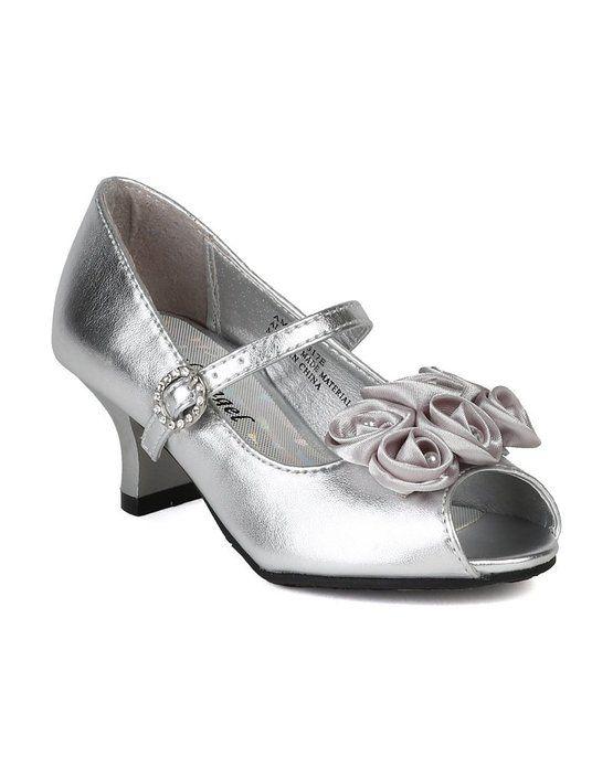4b4b291e2515d Amazon.com  Little Angel Amber-517E Fabric Chiffon Floral Decor Peep Toe Mary  Jane Kitty Heel Pump  Shoes