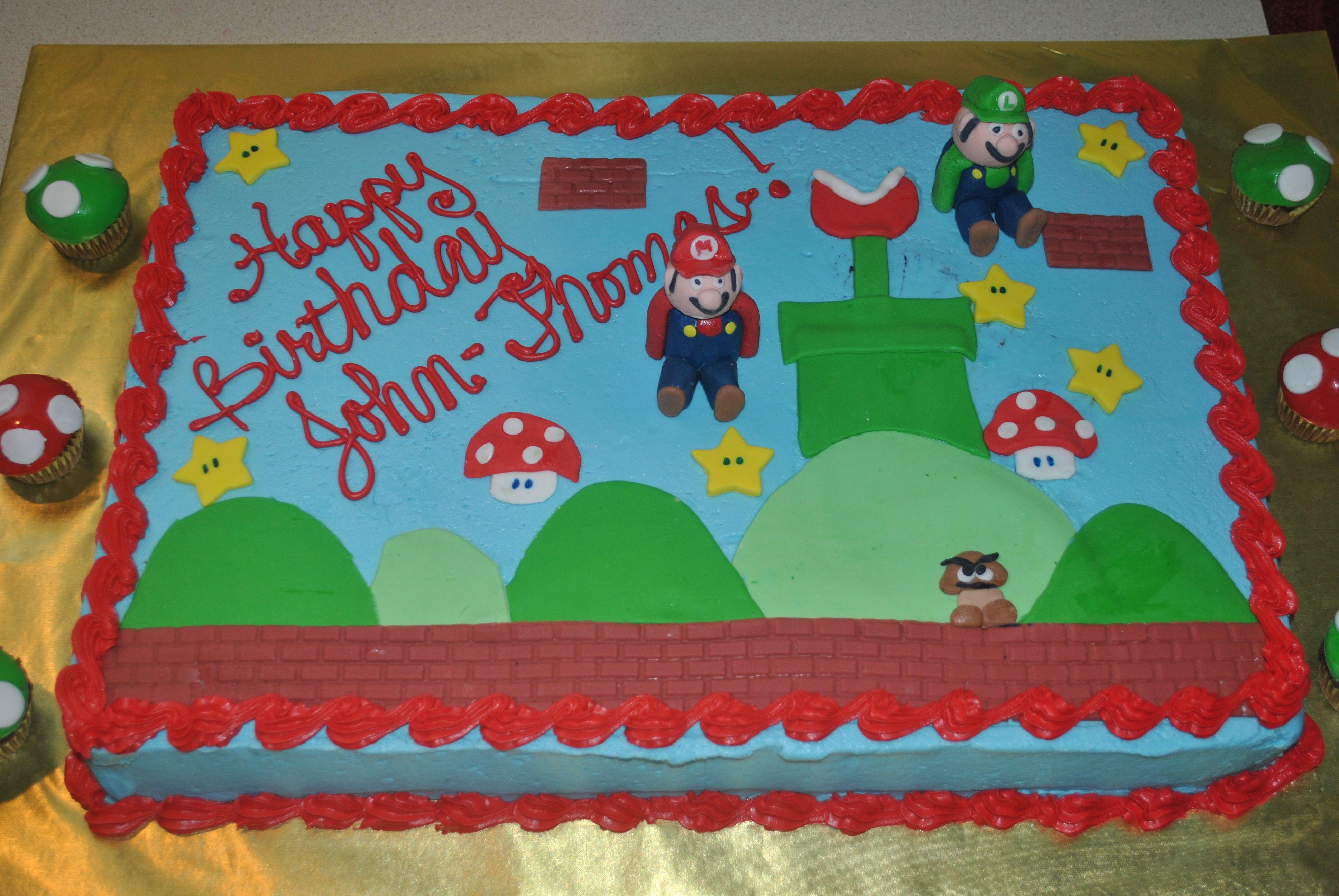 Mario Brothers Birthday Cake Mario And Luigi For A 3rd Birthday