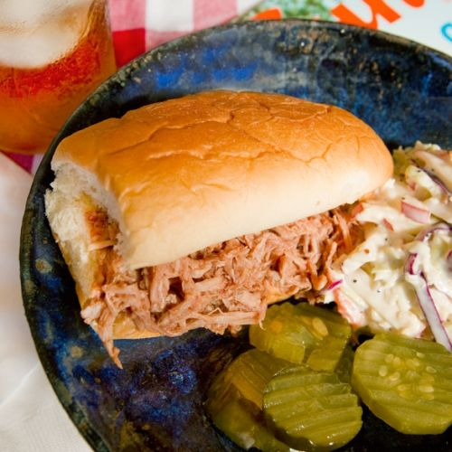 The best play of the day is serving pulled pork sammies. | Hey Good Cookin'