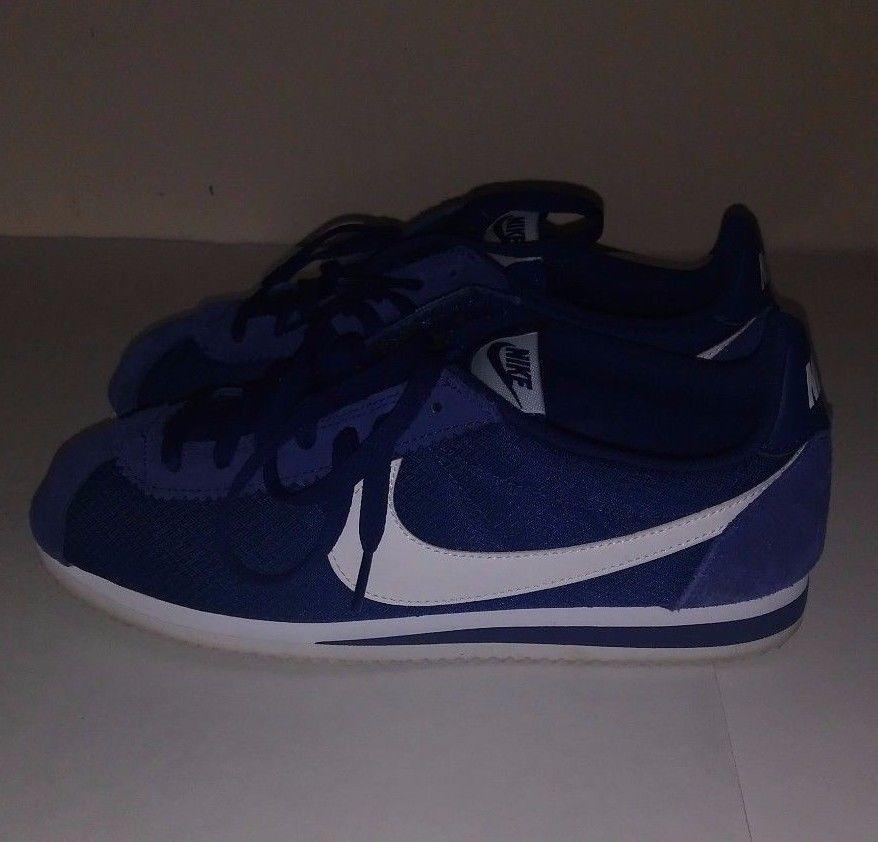 on sale 3b5ab 7654c Womens Nike Classic Cortez Nylon Loyal Blue White