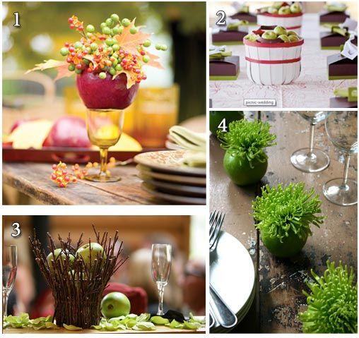 Μήλα για τη διακόσμηση του γάμου της βάπτισης της δεξίωσης. Εδώ είναι και το σχετικό άρθρο http://www.teleiosgamos.gr/organosi-gamou/special-wedding/3108-fthinoporinos-gamos-idees-diakosmisis-mila