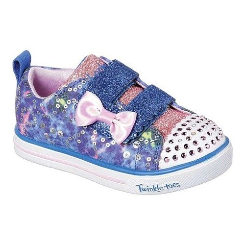 e33060adcd6 Infant Toddler Girls  Skechers Twinkle Toes Sparkle Lite Rainbow Cuties  Sneaker Two Straps
