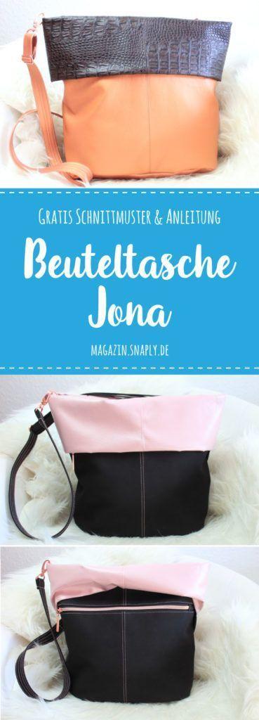 Kostenloses Schnittmuster: Umhängetasche Jona | Snaply-Magazin #freebookschnittmuster