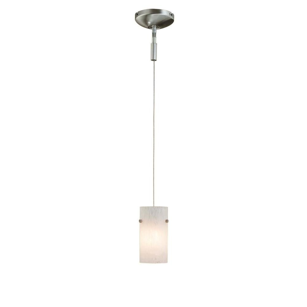 Home Depot Pendant Lights For Kitchen Hampton Bay 1Light Brushed Steel Pendant