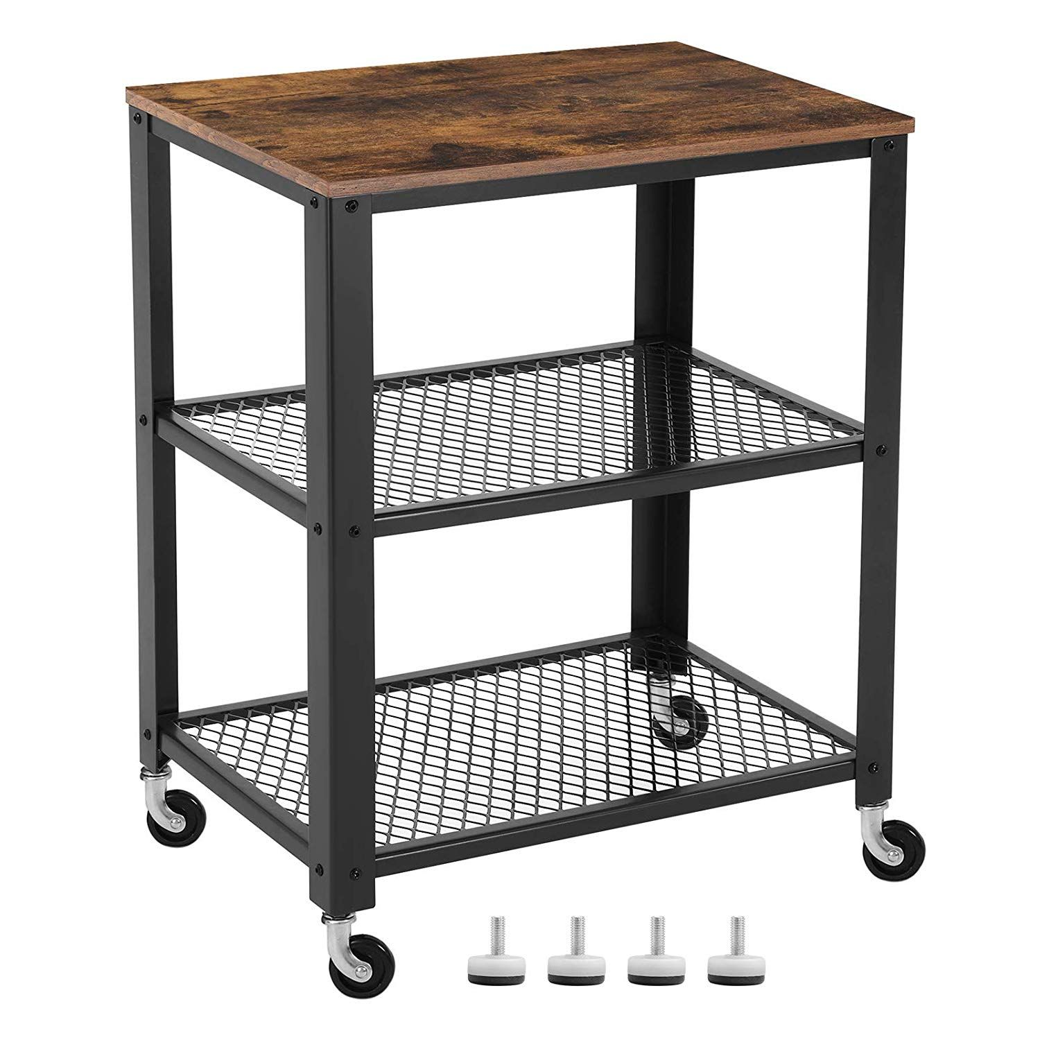 Top 10 Best Bar Carts In 2020 Rolling Kitchen Cart Rustic Kitchen Kitchen Carts On Wheels