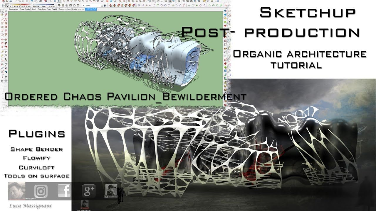 Flowify Shape Bender Voronoi Curviloft SketchUp Organic