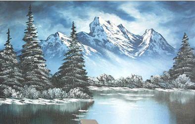 Come dipingere paesaggi invernali con montagne innevate