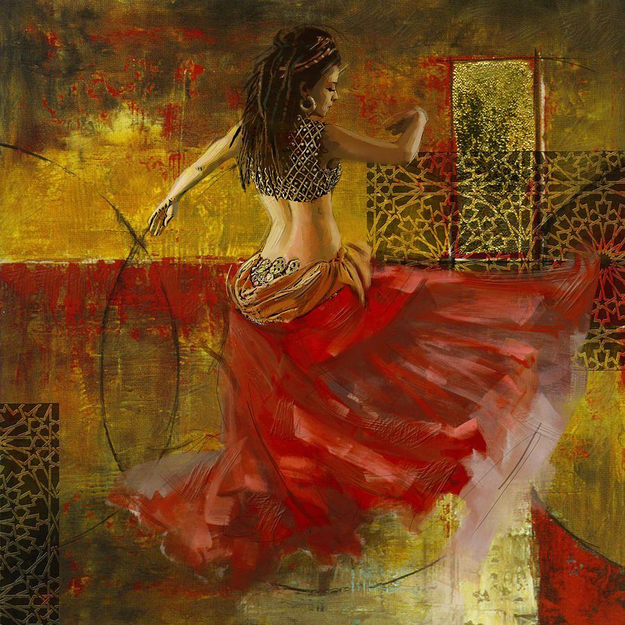 Belly Dancer Painting Belly Dancer Fine Art Print Sztuka Taniec Rumi