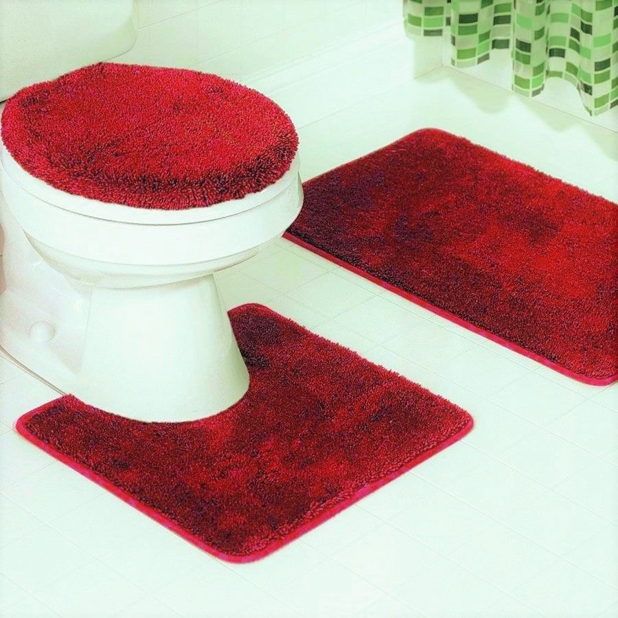 Bathmats Rugs And Toilet Covers 133696 New 3pc Bathroom Set 1