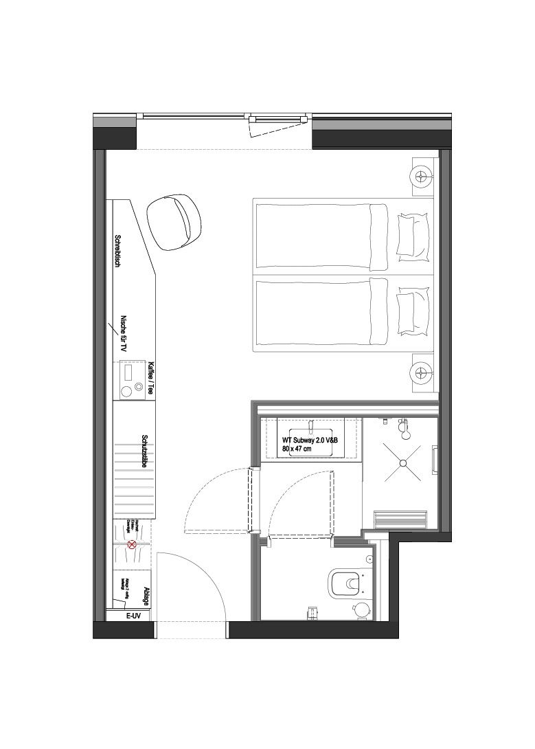 Hotel Room Plan: Hotel Am Remspark Schwäbisch Gmünd, GE Silver Standard
