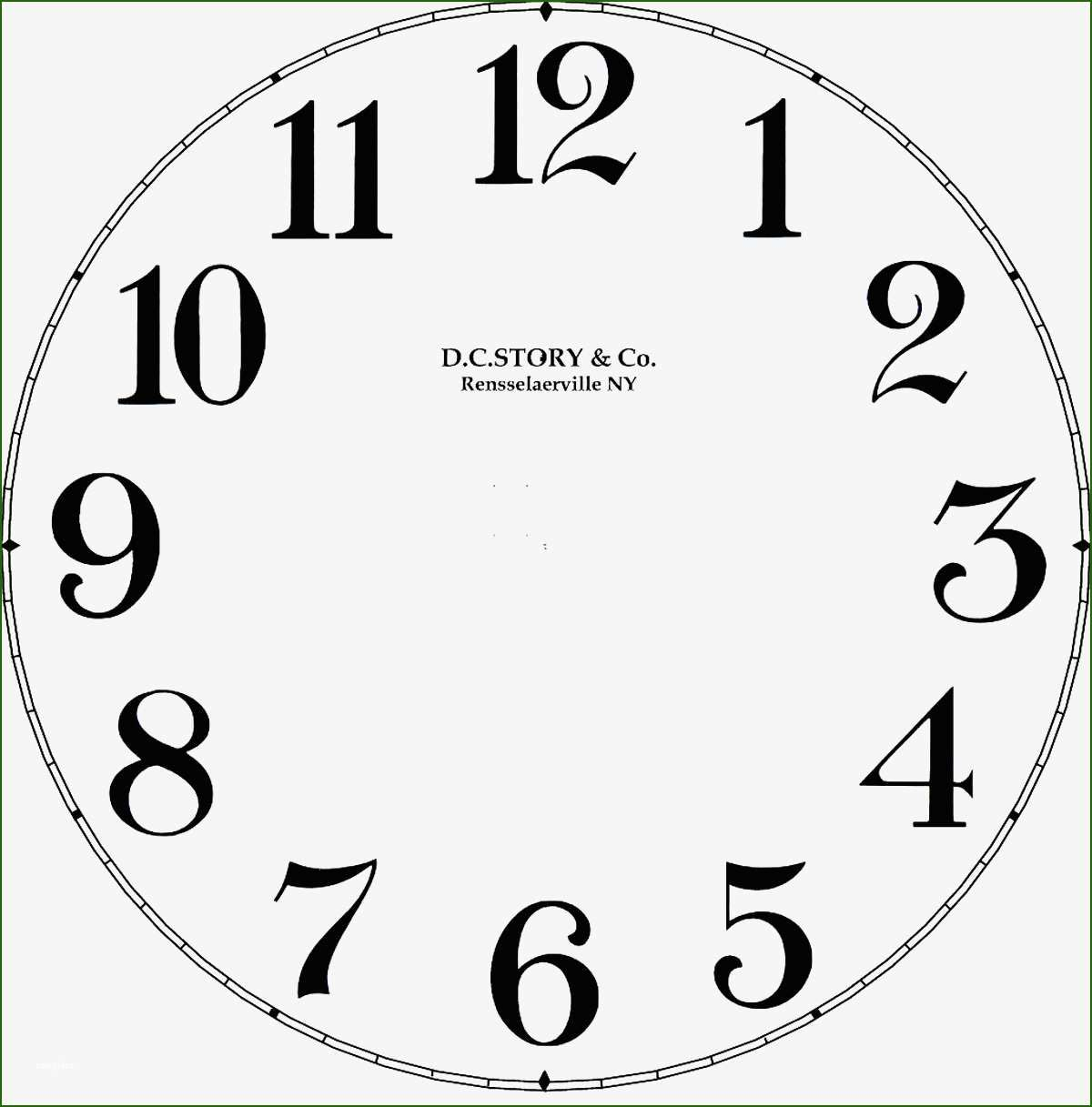 Customizable Clock Face Template 11 Theory Of In