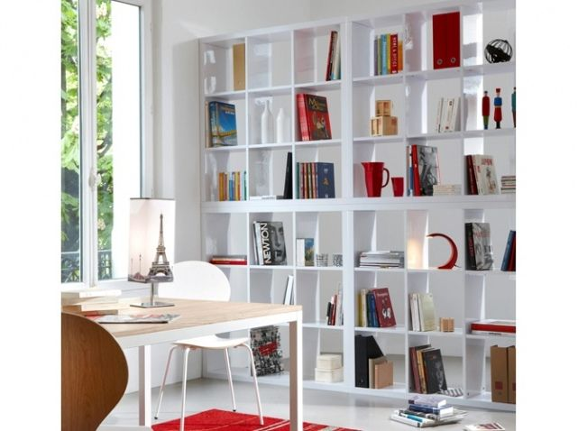 Bibliotheque separation p le m le pinterest salons - Bibliotheque salon design ...