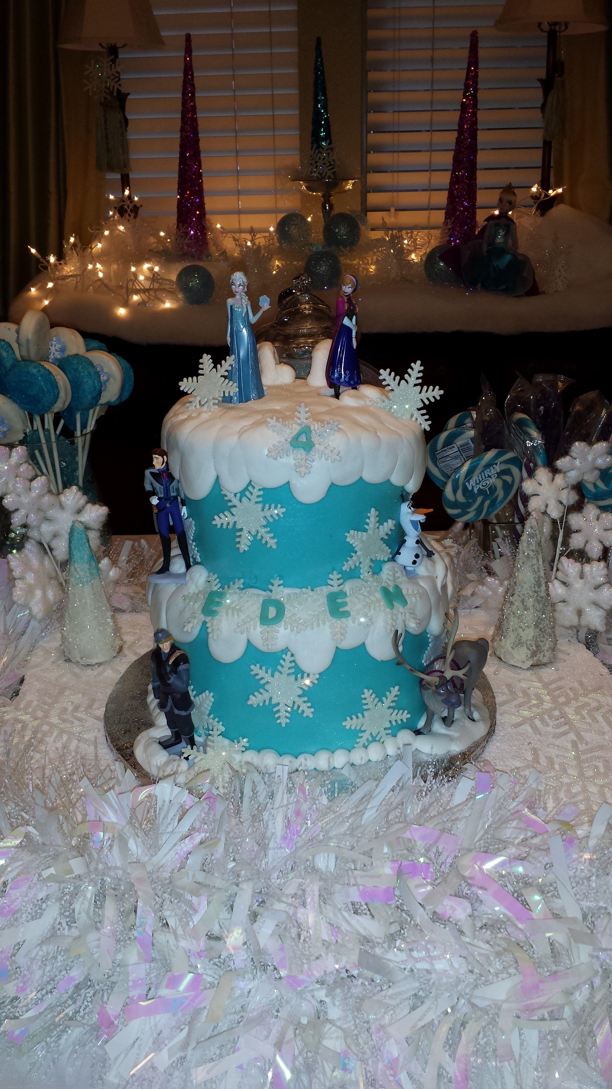 Edens Disney Frozen Birthday Cake Party Fun Pinterest Disney