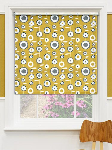 The Ocular Bumblebee Gold Roller Blind Has Sixties Style