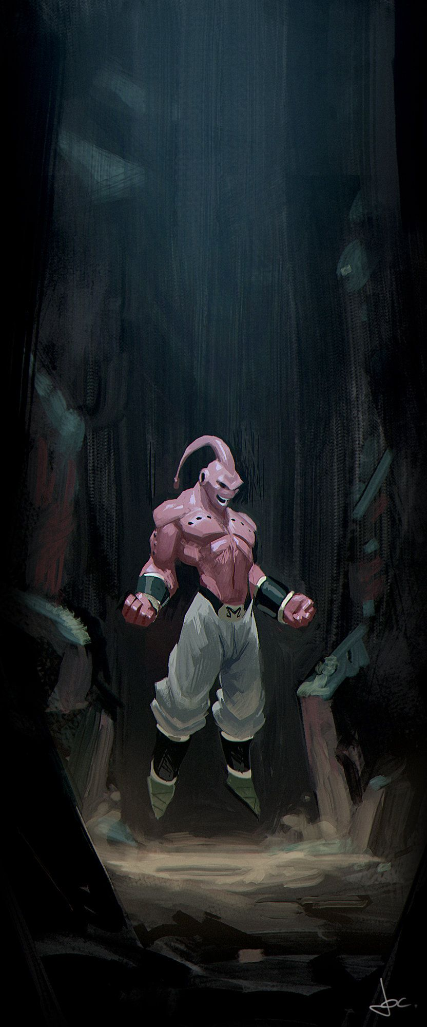 Kid Buu may have been the most ruthless, but Super Buu was the coolest. Artwork by Jocelyn Millet.