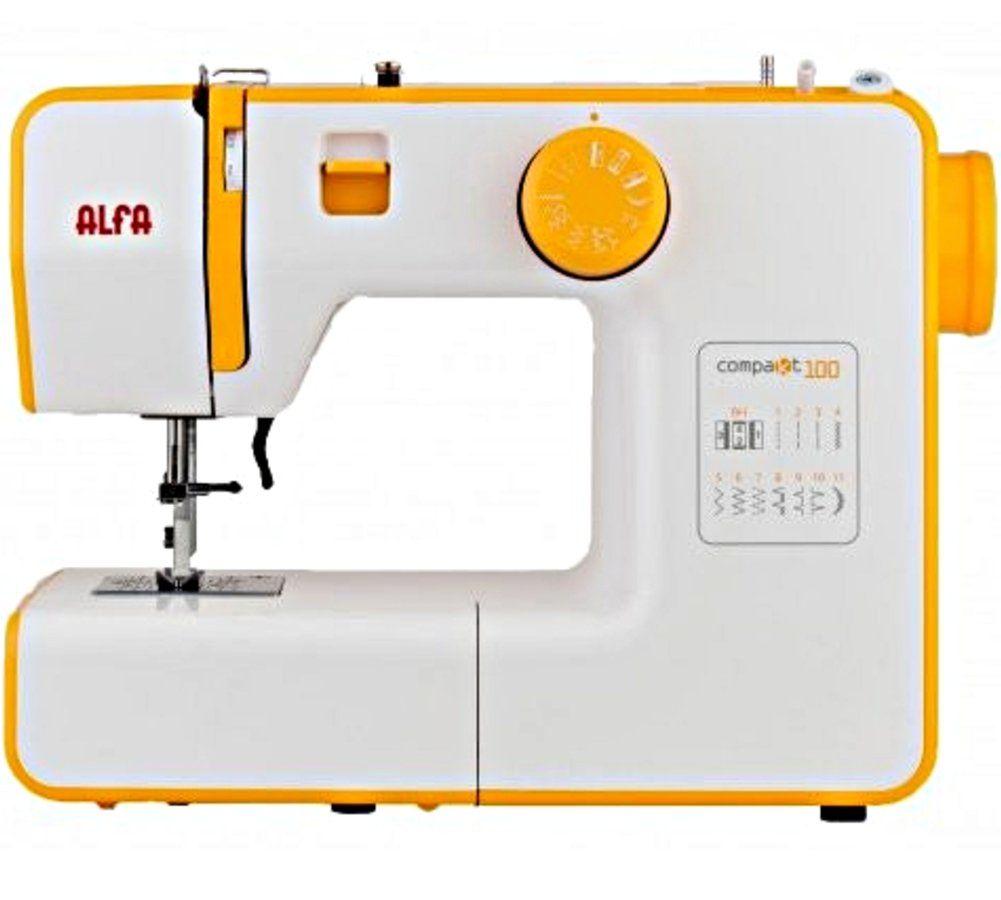 Máquina de coser Alfa Compakt 100, 12 puntadas automáticas