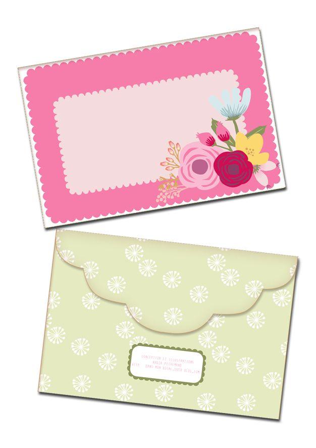 Une carte d anniversaire imprimer enveloppe bouquets de fleurs et enveloppes - Enveloppe de noel ...