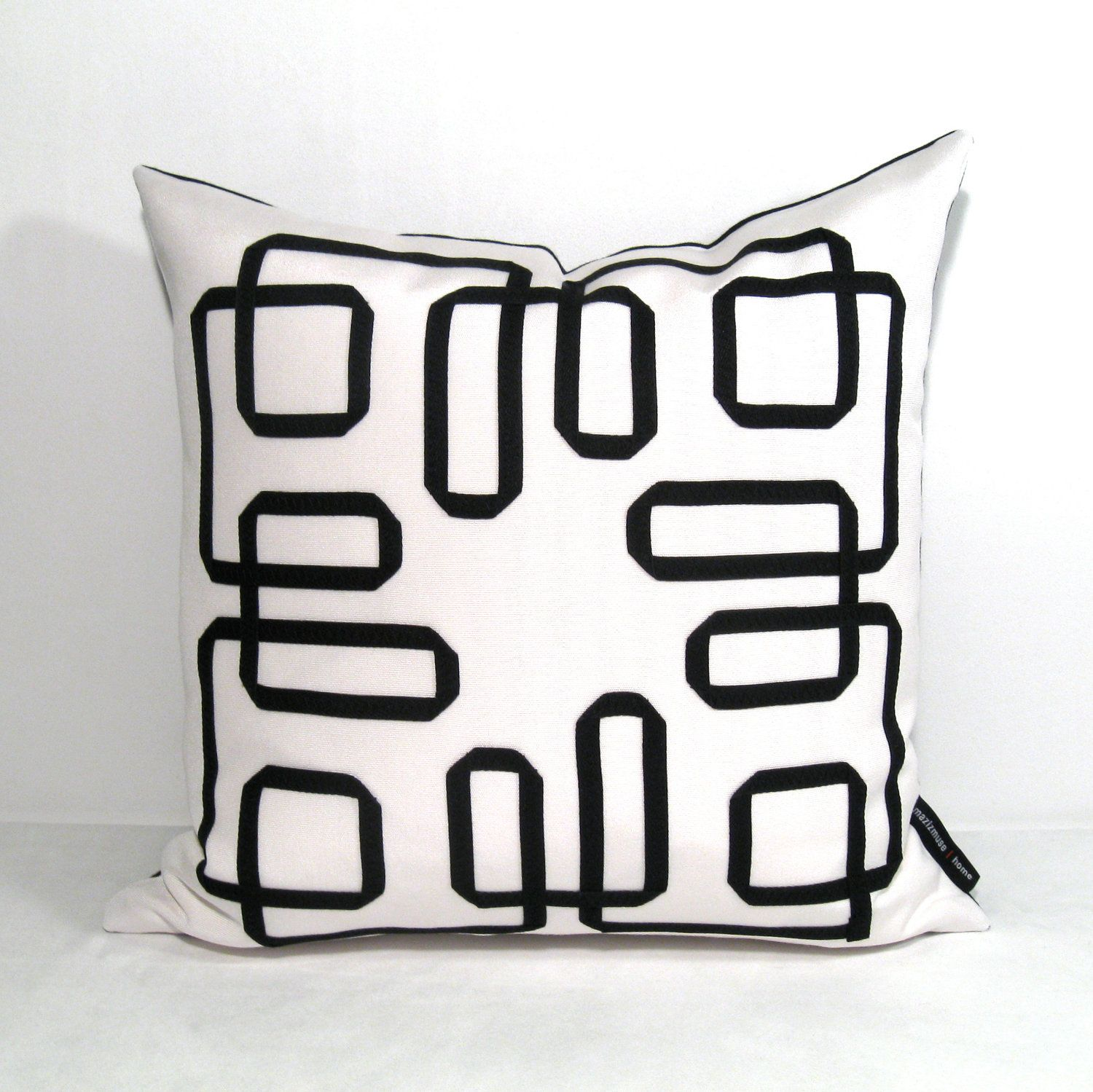 Black White Pillow Cover Decorative Cushion Modern Geometric