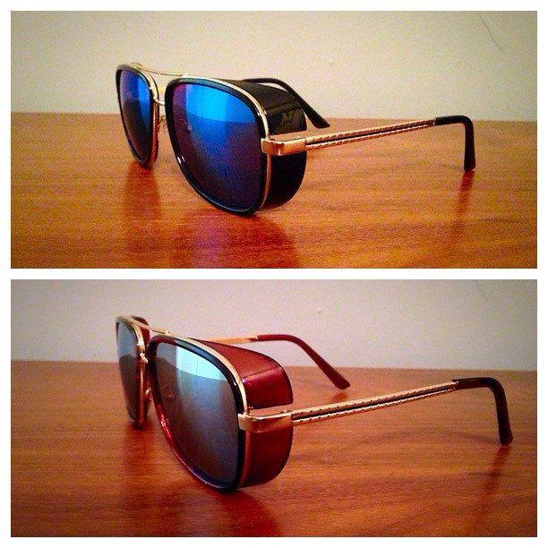 ba3cd4f3df Vintage looking Retro Steampunk Tony Stark Sunglasses by UseReuse on Etsy