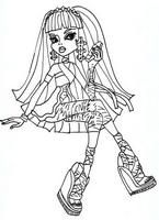 Cleo De Nile Coloring Pages Monster High Kolorowanki Monster