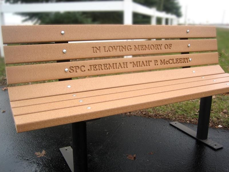 Sensational Personalized Memorial Park Bench Made From Recycled Andrewgaddart Wooden Chair Designs For Living Room Andrewgaddartcom