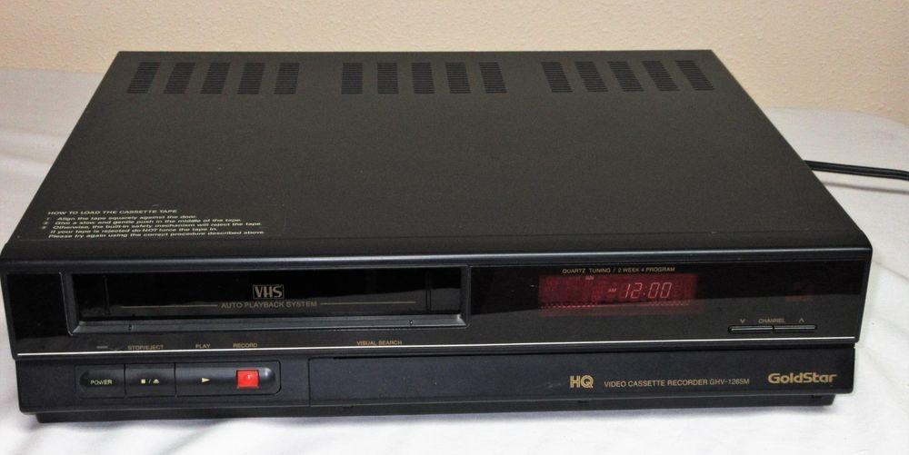 goldstar hq ghv 1265m vcr vhs player recorder with remote vintage rh pinterest com goldstar vcr user manual Gold Star VCR Remote