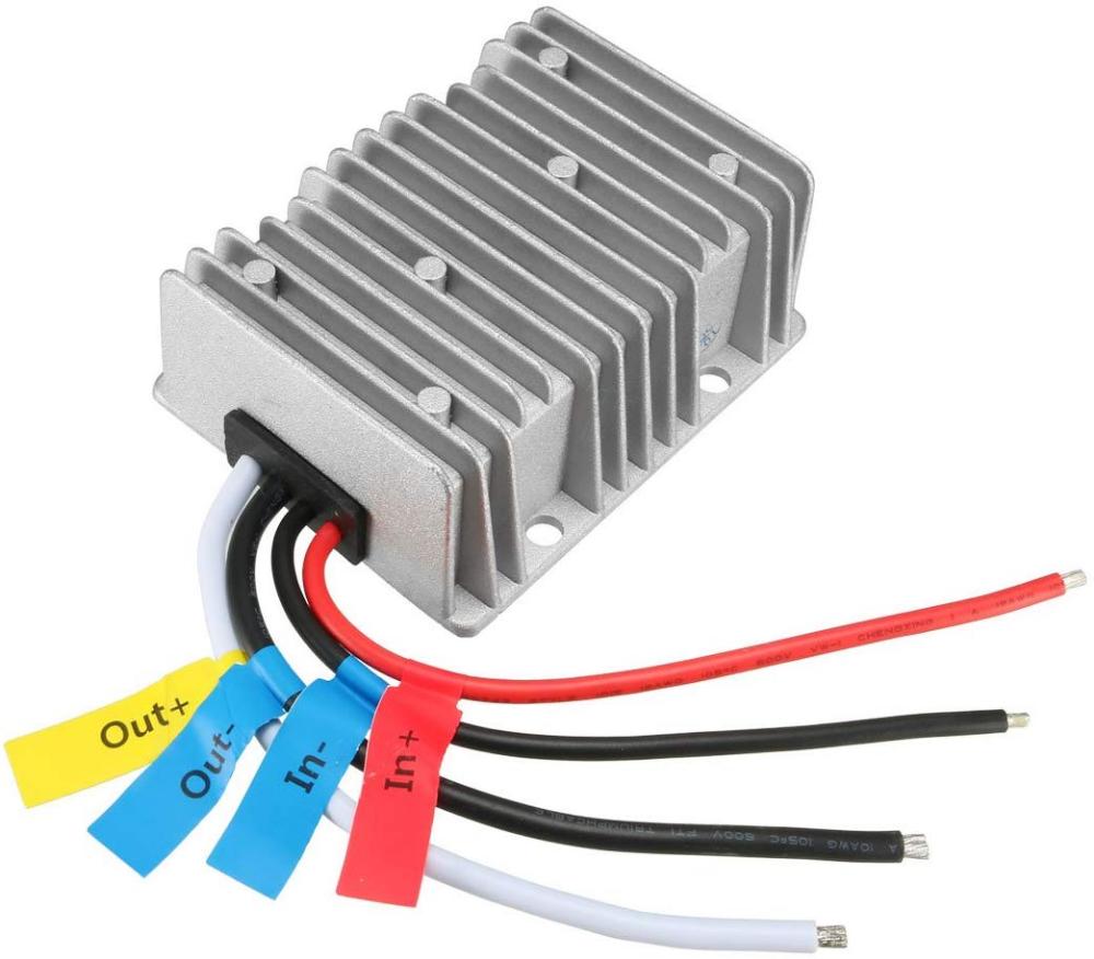 Uxcell New Big Size Voltage Converter Regulator Dc Dc Dc 24v Step Down To Dc 12v 40a 480w Buck Transformer Waterproof Rv Solar Power Solar Power Rv Solar