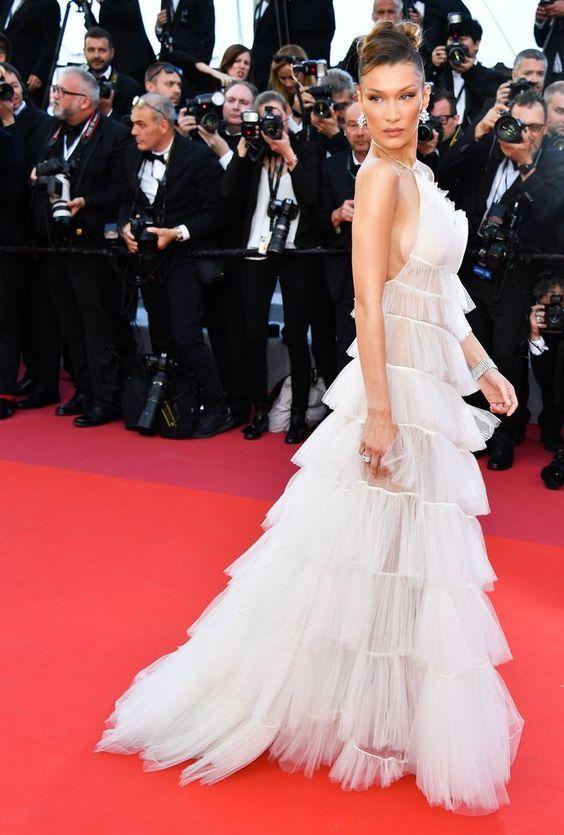 Bella Hadid @ Cannes, 2019.   Cannes film festival fashion ...
