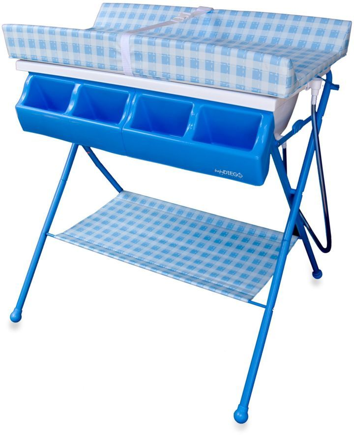 Baby Diego Standard Bath Amp Changer Combo In Blue Baby