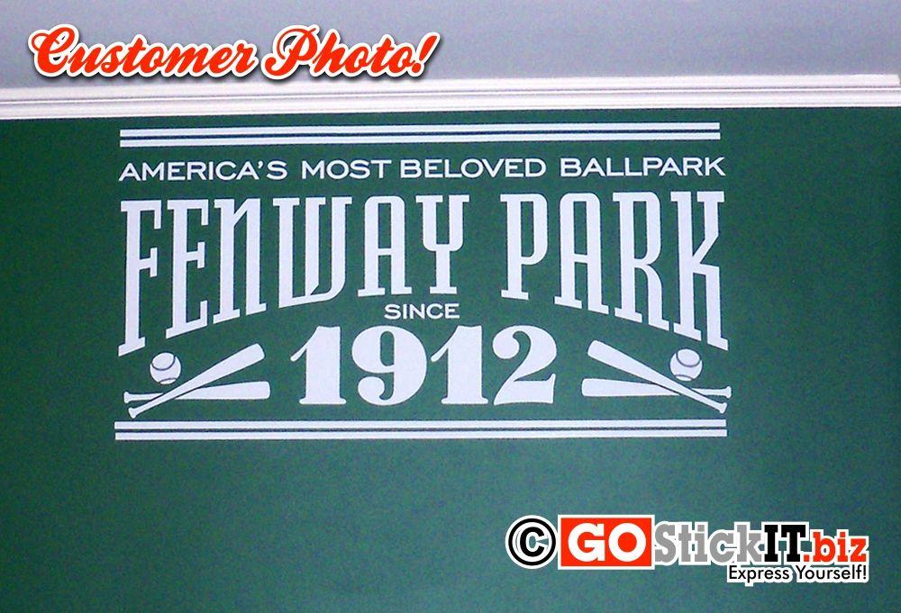 Fenway Park Stadium Sign Man Cave Wall Art Decal Fenway