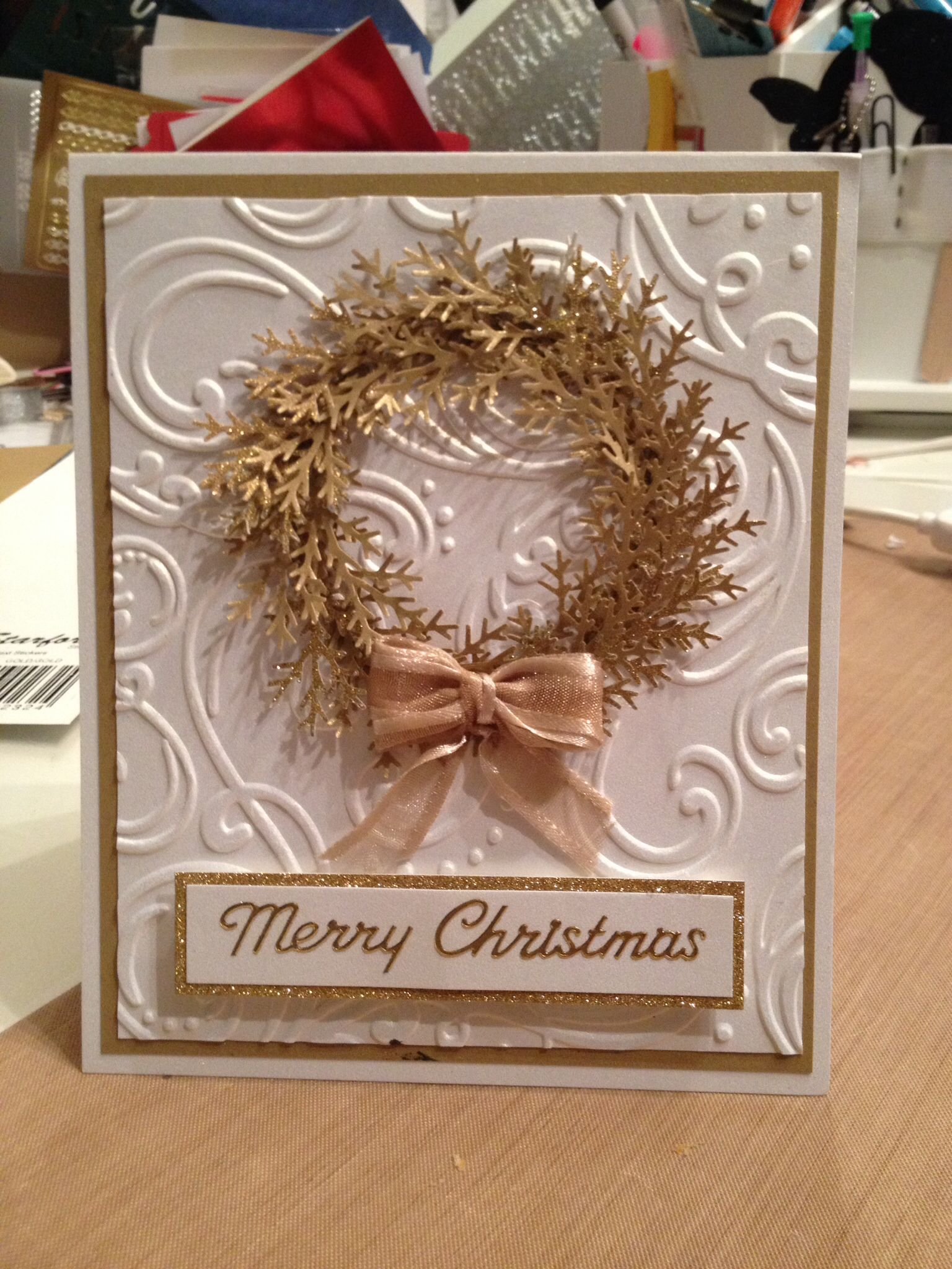 Cards by Brenda..... Made to order. Christmas cards. Martha Stewart branch punch