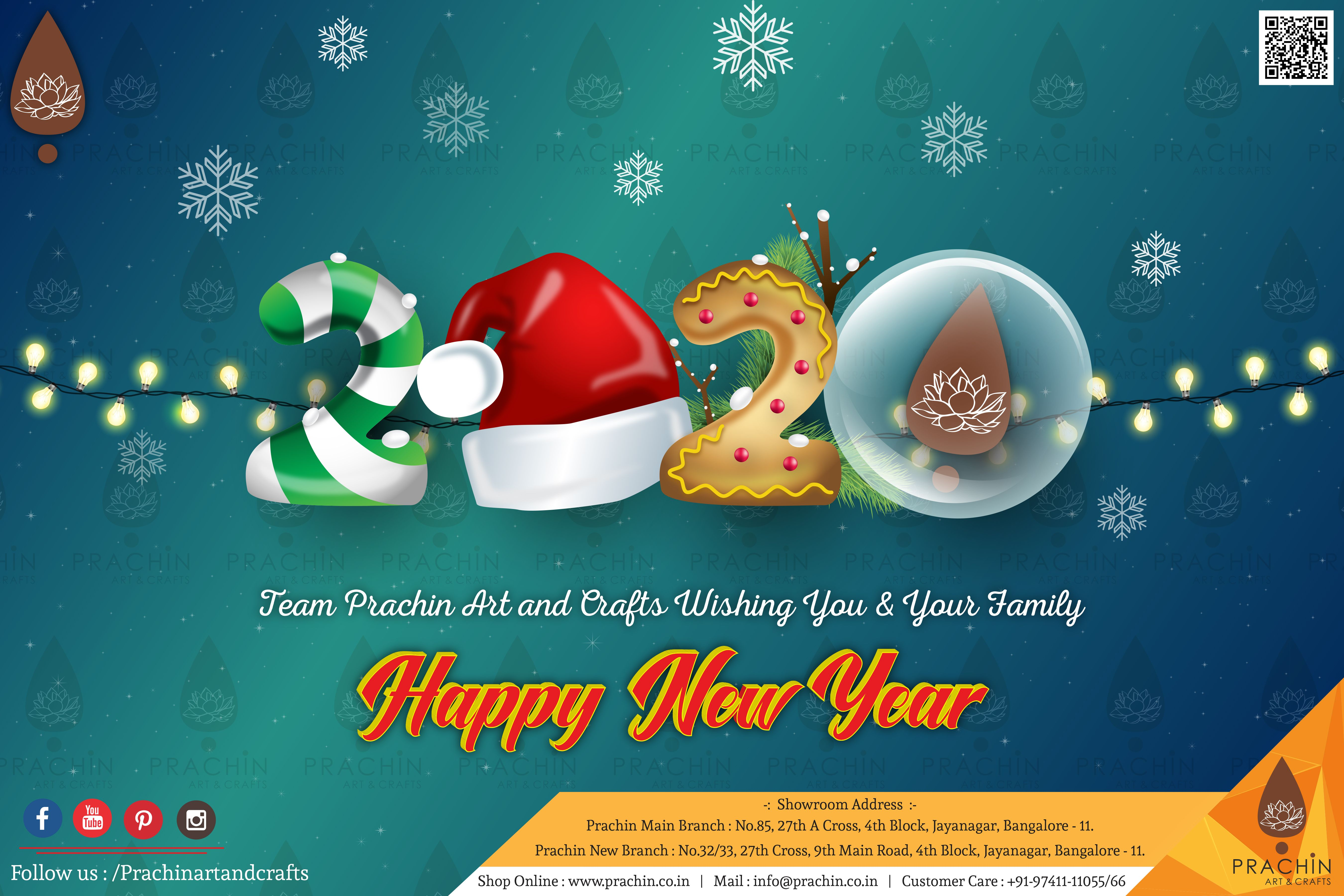 Team Prachin Art Crafts Wishing You And Your Family Happy New Year 2020 Happy New Year 2020 Crafts Arts And Crafts