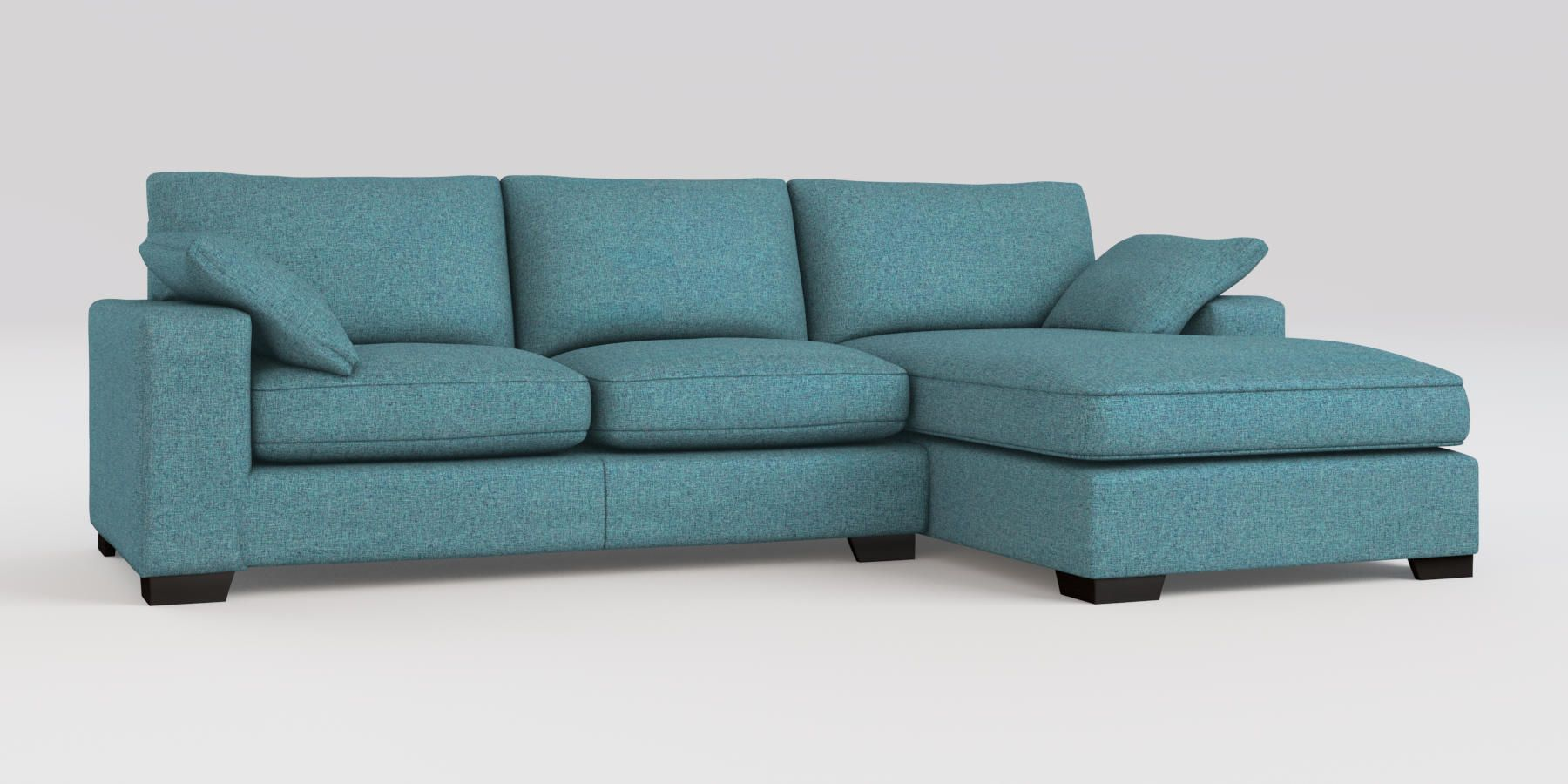 Buy Sonoma II Corner Chaise - Right Hand (4 seats) Tweedy Blend Teal ...