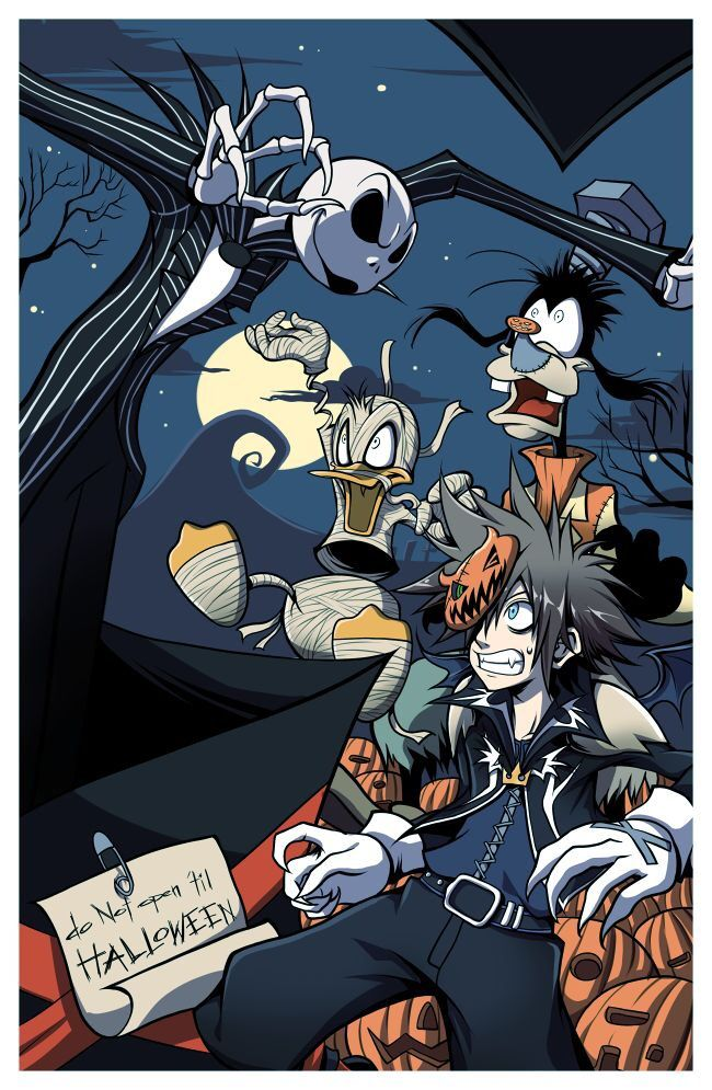 When they visit Halloween town | Kingdom Hearts | Pinterest ...