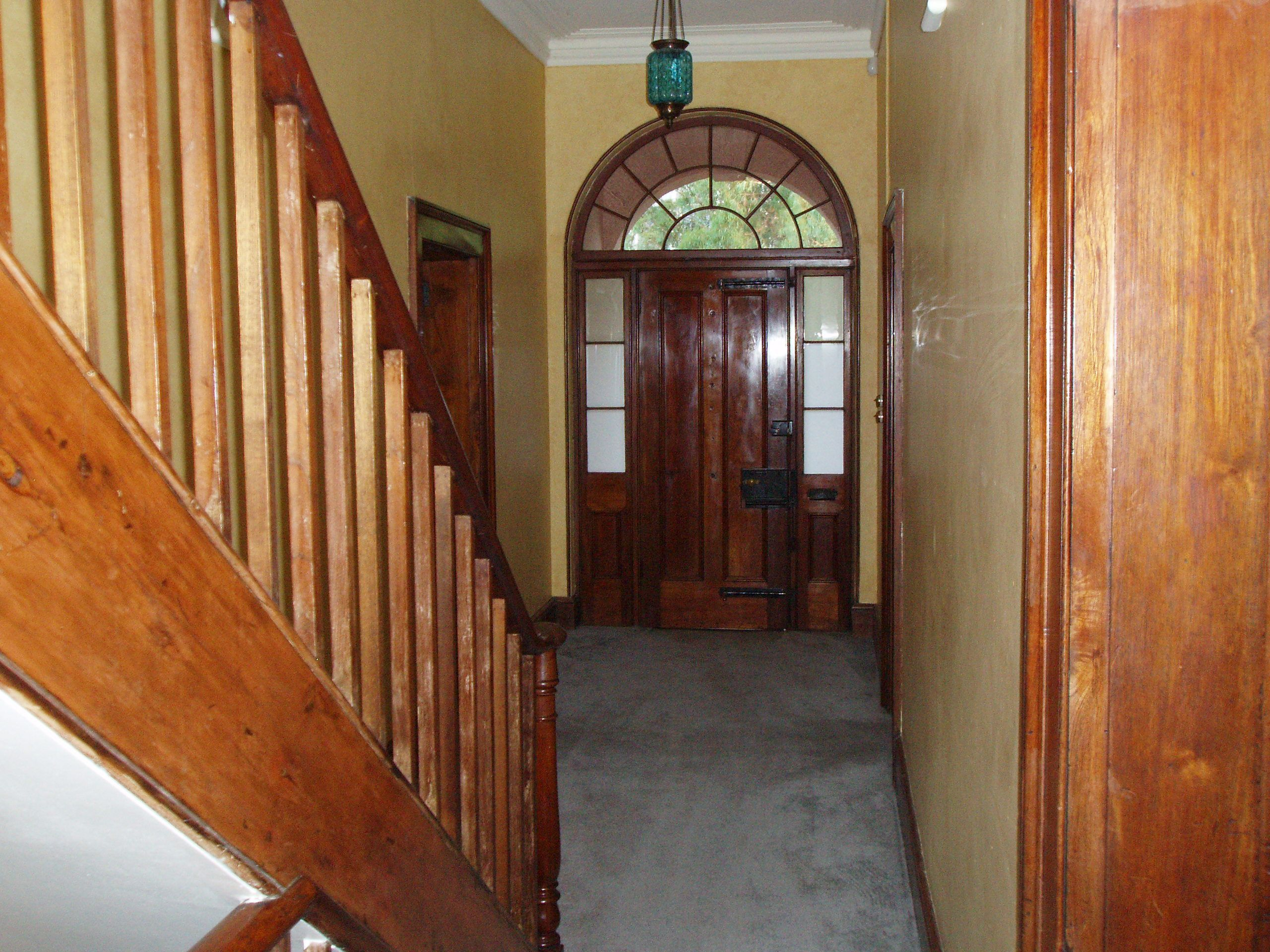 The day we took ownership of the home, the front door