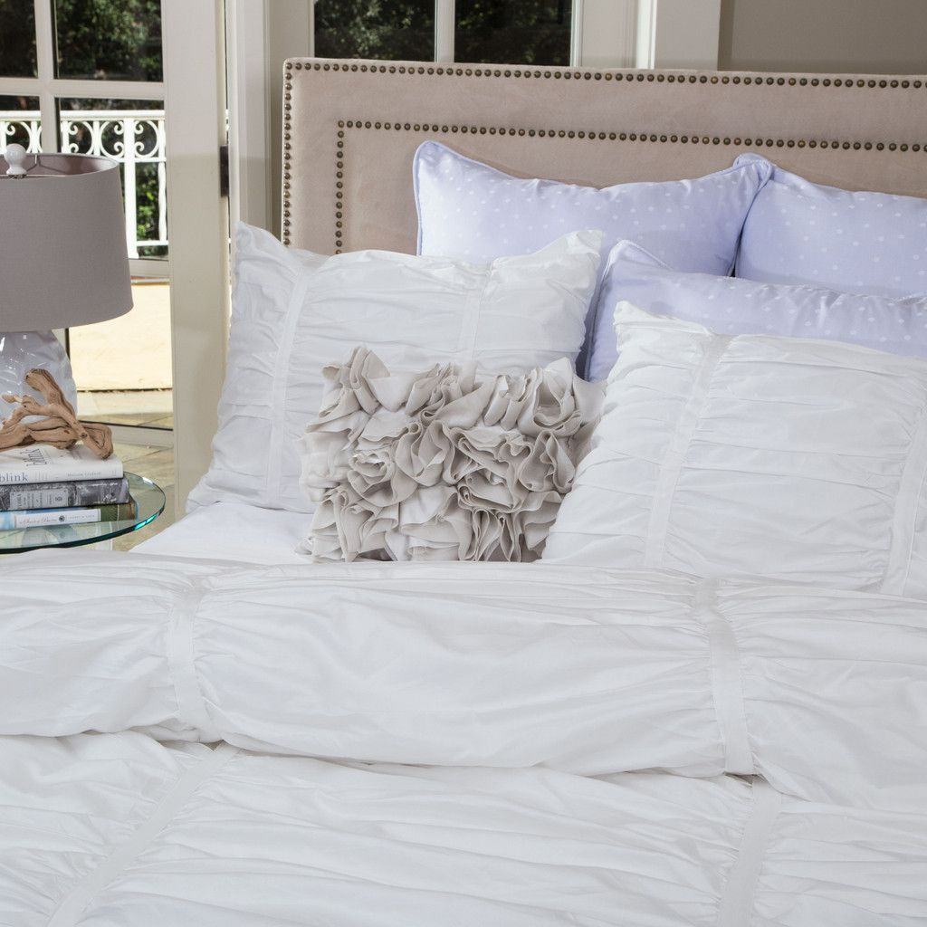 White Mirabel Ruched Duvet Cover Twin Twin Xl White Duvet Covers