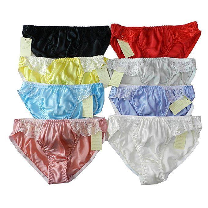 10PCS Women/'s 100/% Silk String Bikini Panties Underwear Size:S M L XL XXL Floral