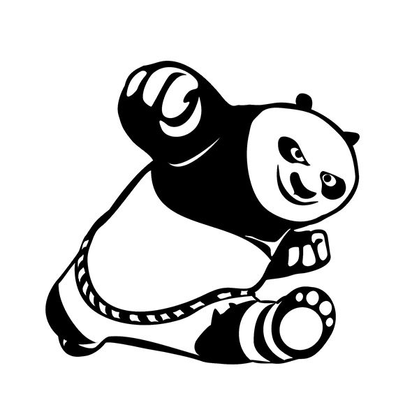 Pcslot Cute Kung Fu Panda Cool Vinyl Sticker Decal For Car - Cool vinyl decals