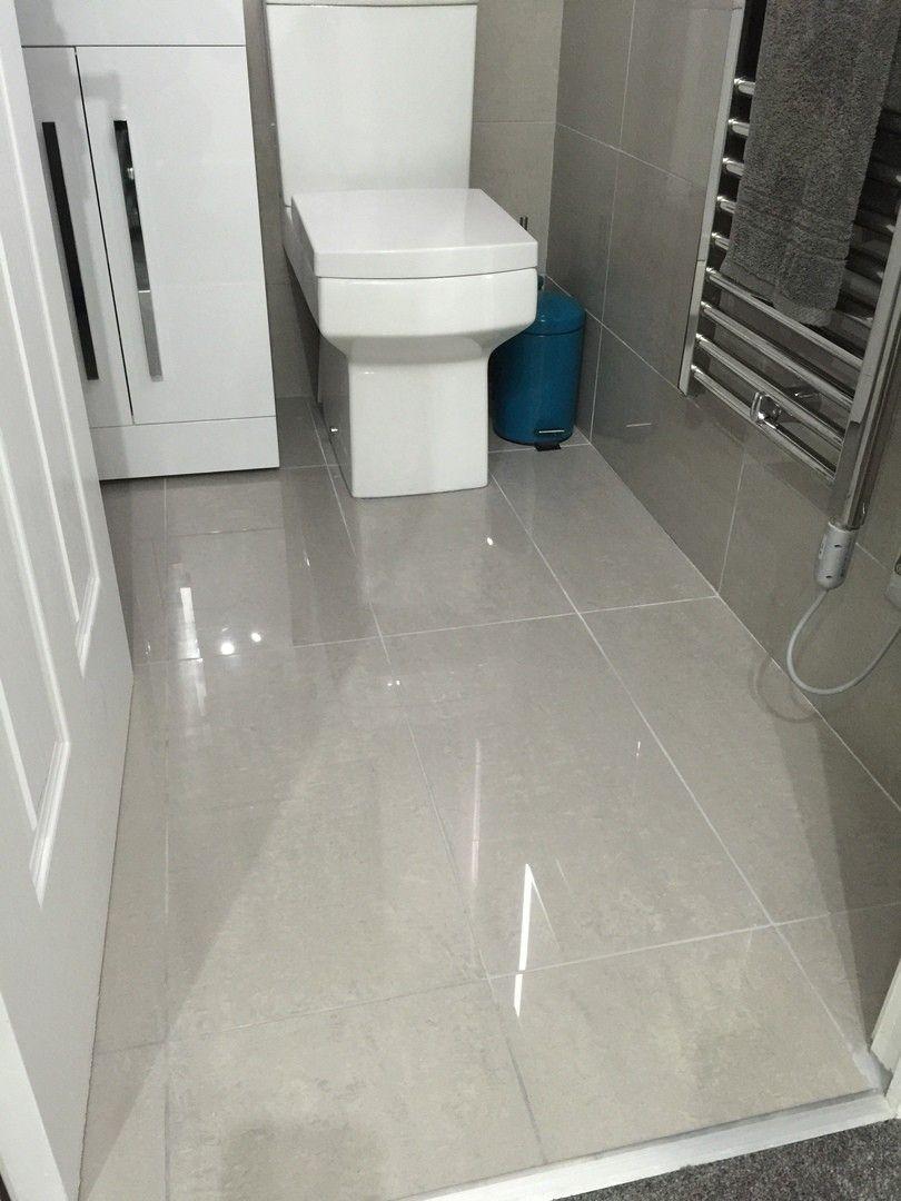Grey Polished Porcelain Floor Tiles Grey Floor Tiles Porcelain Flooring Porcelain Tile Bathroom