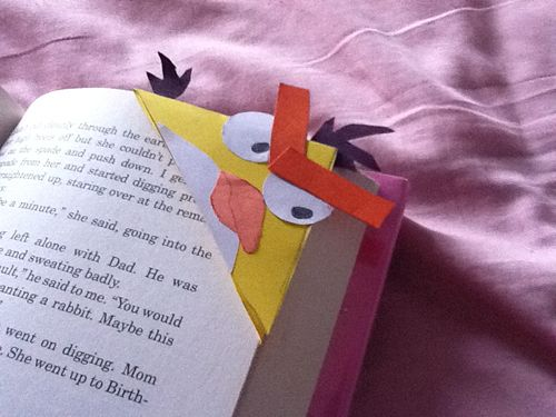 yellow angry bird bookmark | Save it! | Pinterest