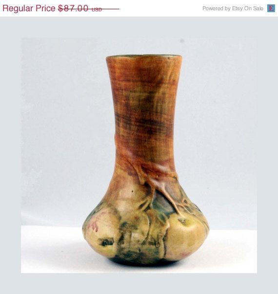 Weller Pottery Baldin Apple Bud Vase Antique Weller Pottery And