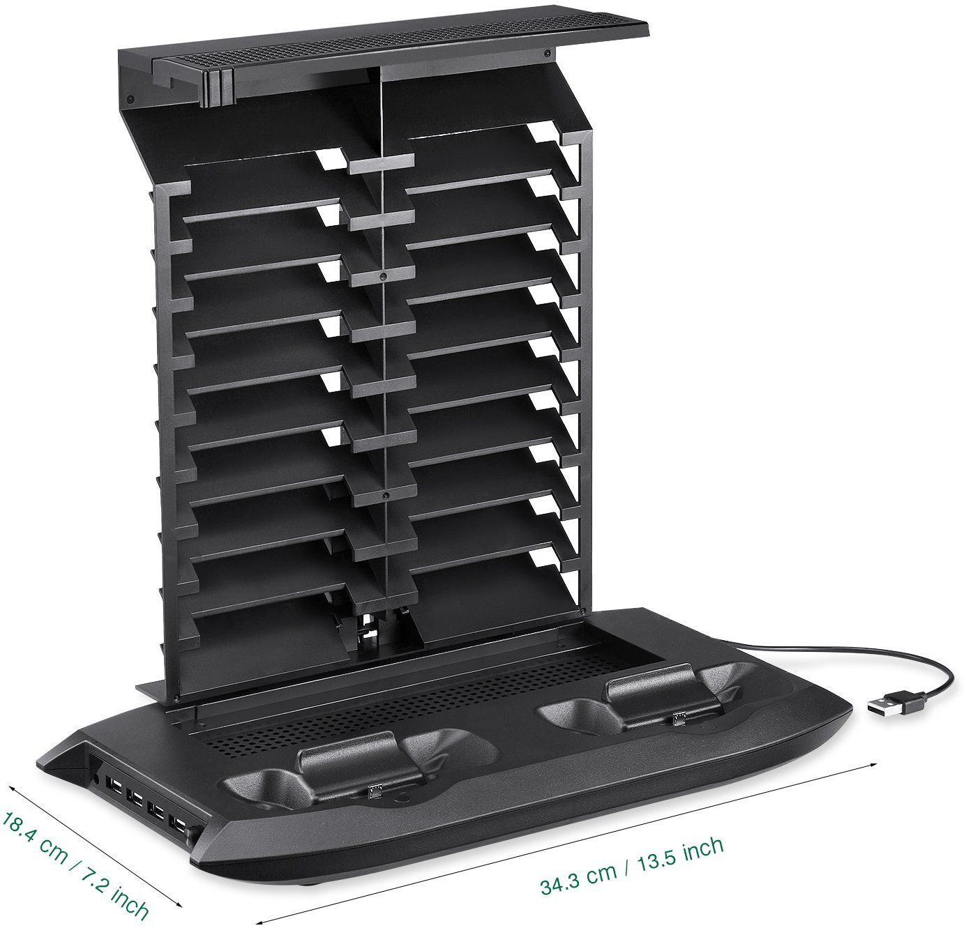 DACCKIT Vertical Stand with Cooling Fan Compatible with