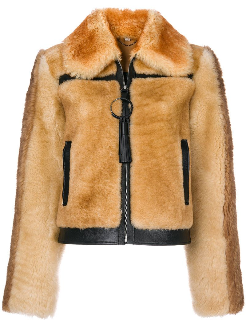 Coach 1941 Pieced Shearling Bomber Jacket In Bamboo Modesens Jackets Shearling Bomber Jacket [ 1067 x 800 Pixel ]