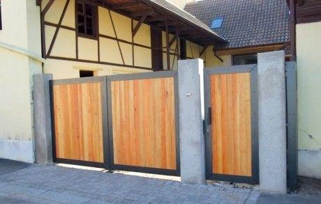 Portail contemporain thérmolaqué Extérieur maison Pinterest - portail de maison en fer