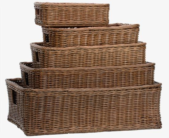 Underbed Wicker Storage Basket Storage Baskets Basket
