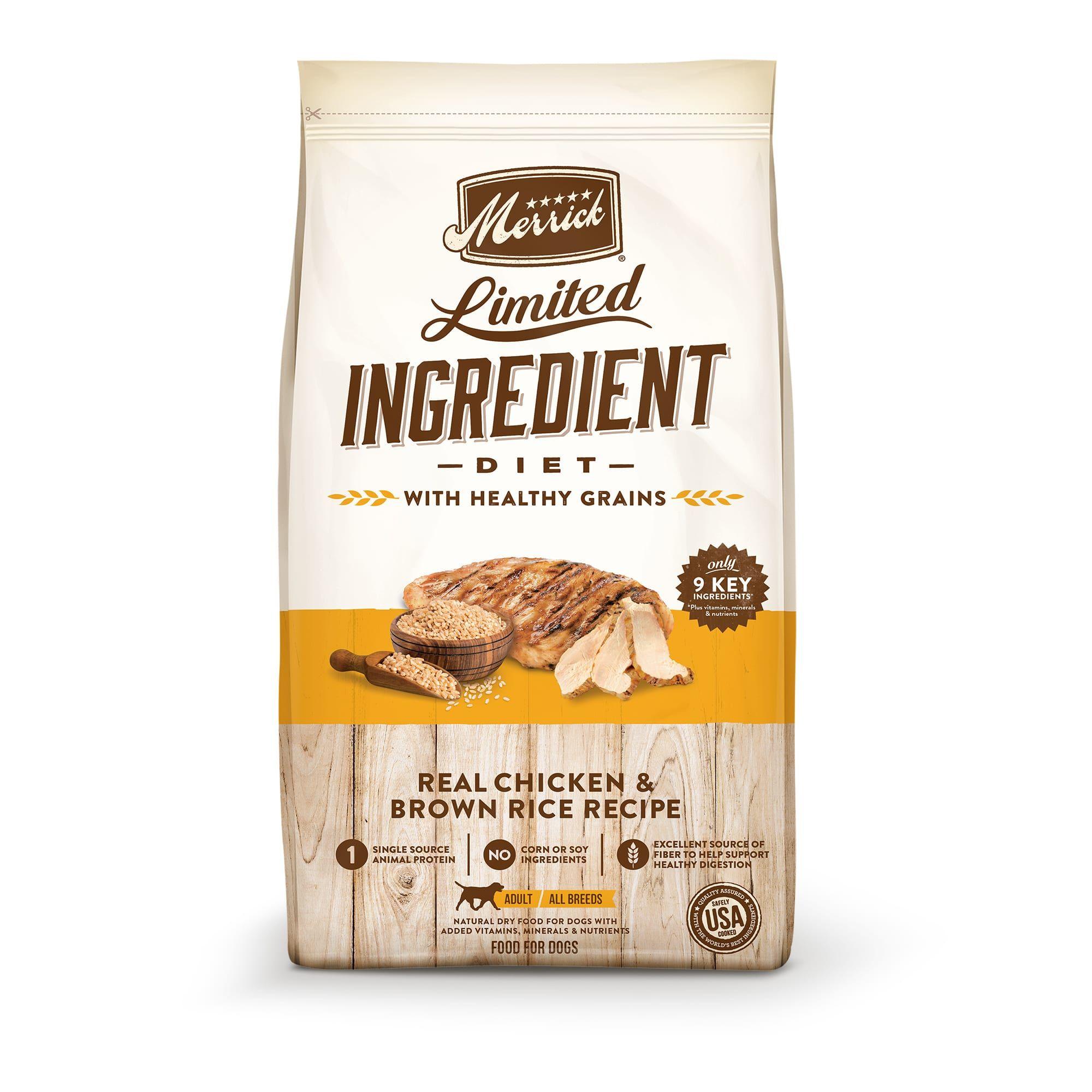 Merrick Limited Ingredient Diet Chicken Brown Rice Recipe Dry