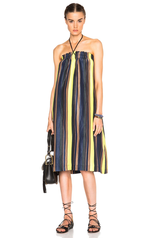 Apiece Apart Nambe Dress in Midnight Sky Stripe   FWRD